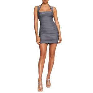 TIGER MIST Tilly Body-Con Minidress steel gray